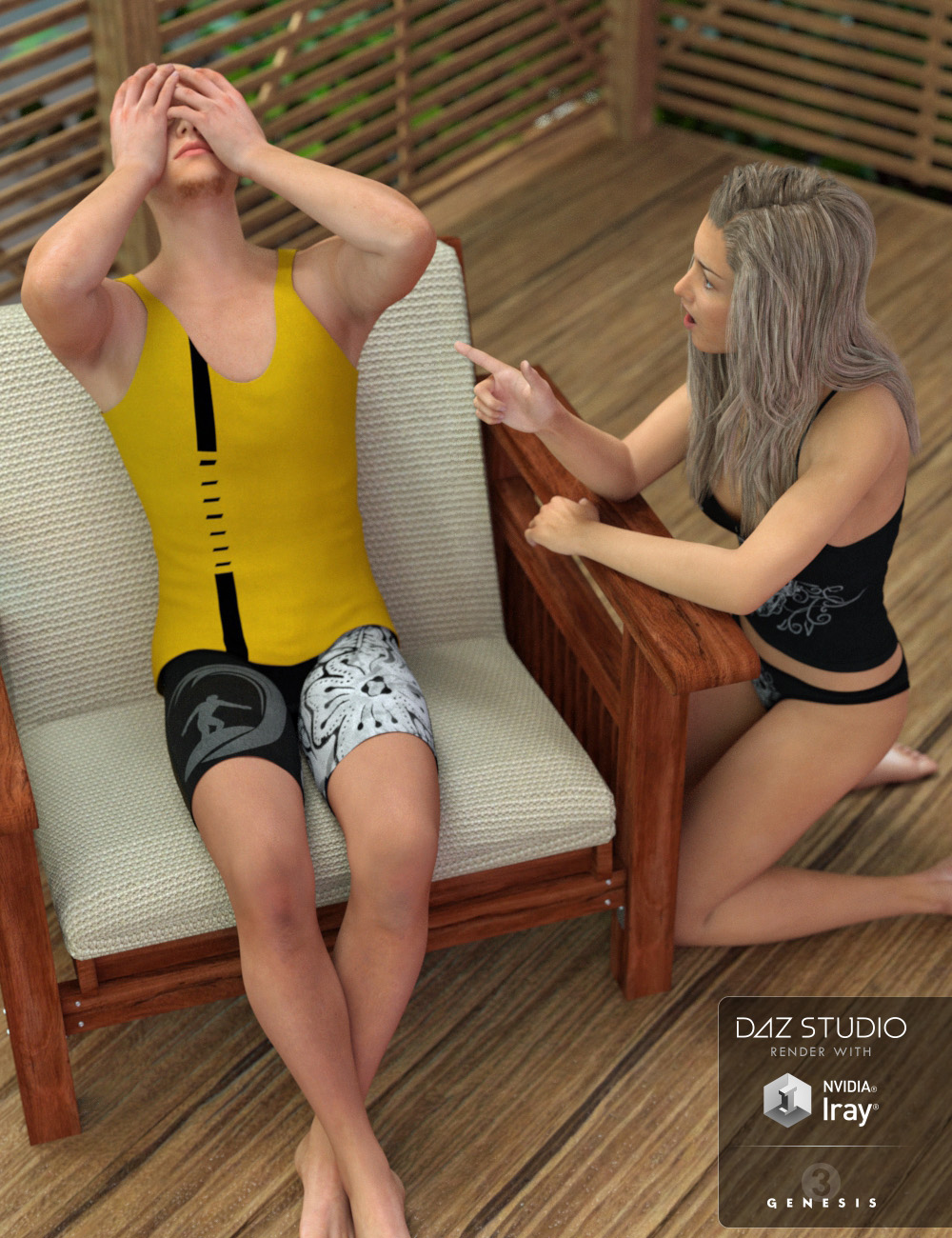 Mega 40-Pose Freebie for Genesis 3 Female and Male!!!!! - Daz 3D Forums