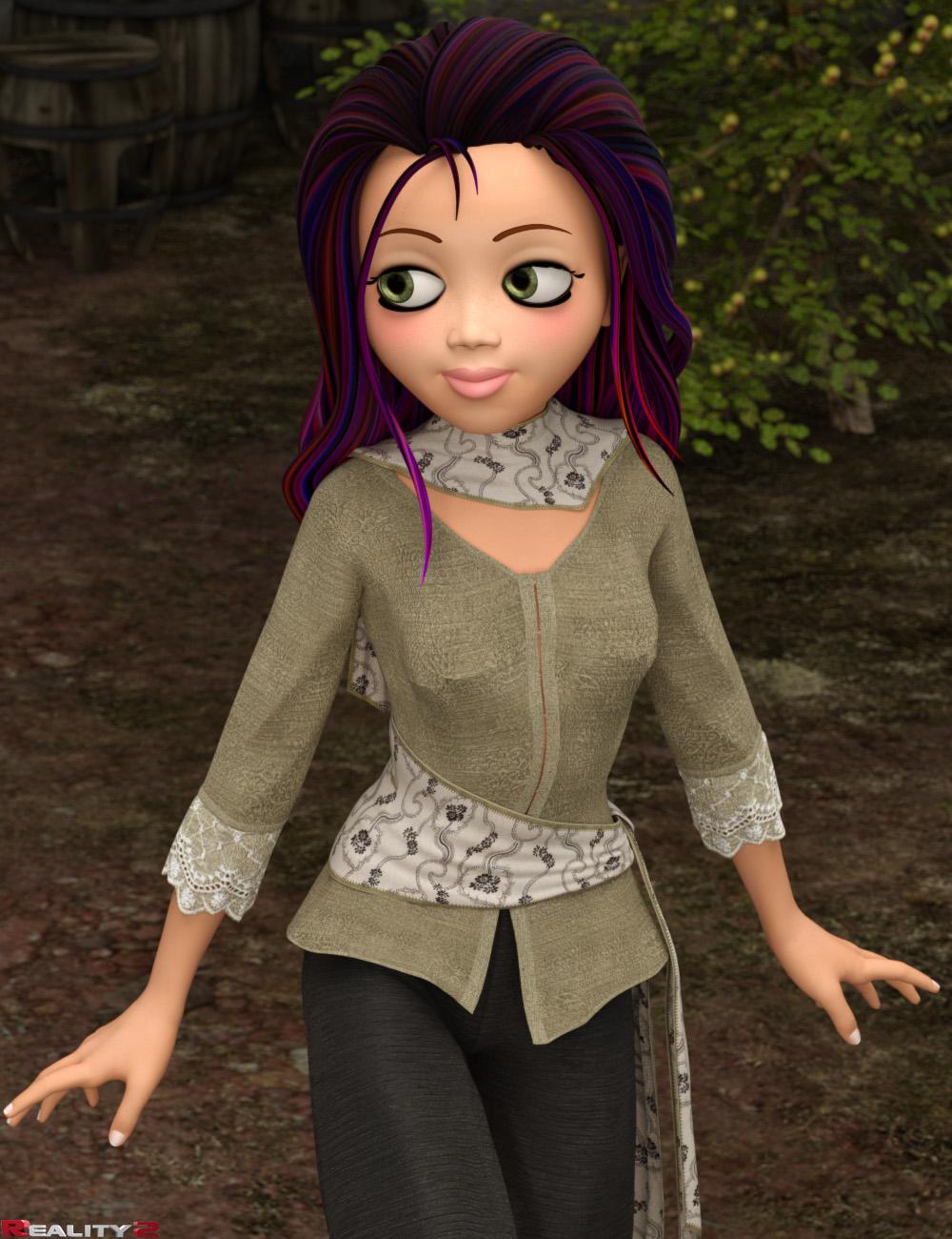 Jazzy Hair Textures for Jasmin 4