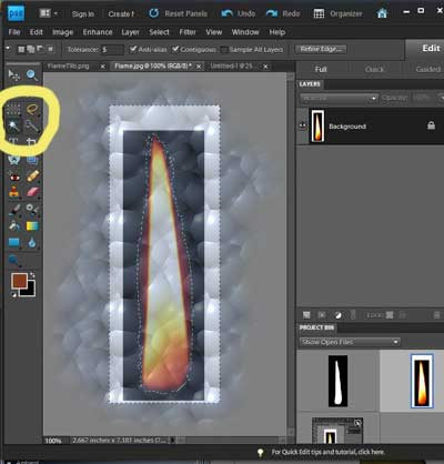how to use wand tool to select multiple secitinos
